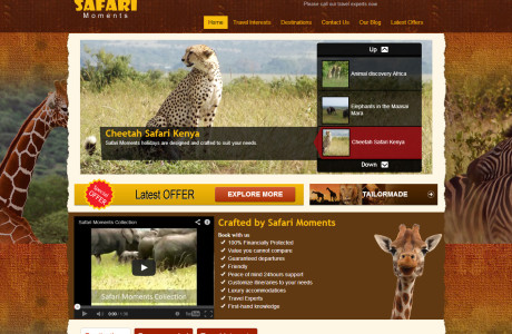 Travel and tour website